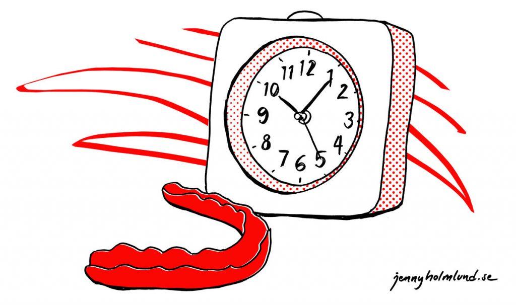 klocka-bettskena