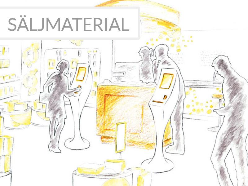 illustration säljmaterial