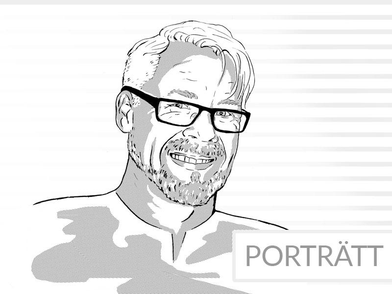 porträttbild svart vit